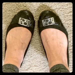 Coach Ballet Flats Black 7.5